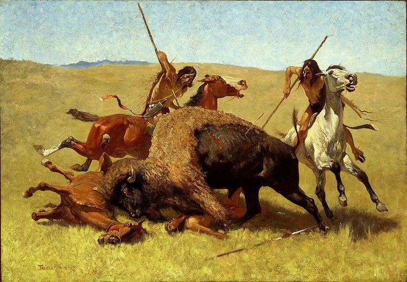 800px-Frederic_Remington_-_The_Buffalo_Hunt