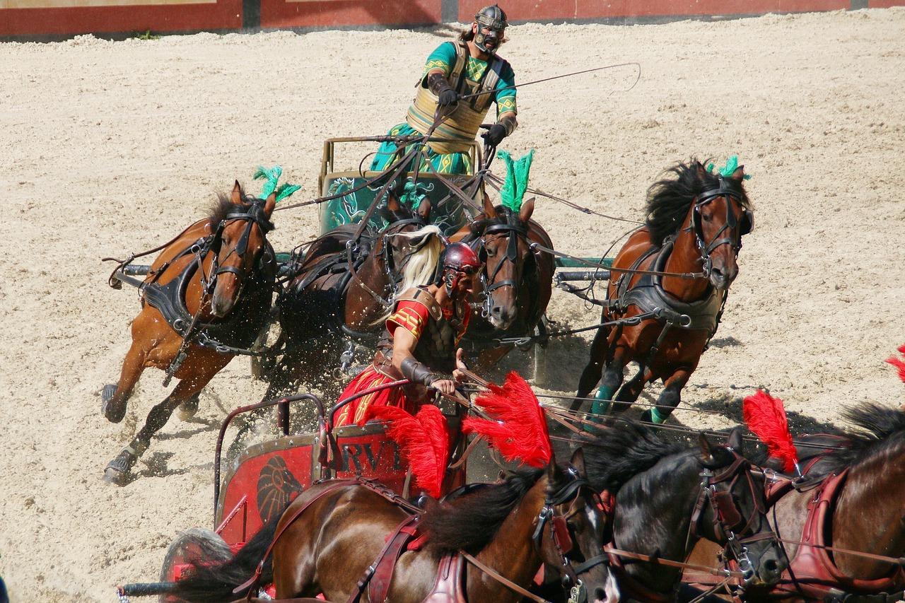La course de chars dans la Rome antique : le sport roi